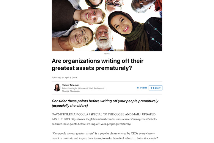 Are organizations writing off their greatest assets prematurely?