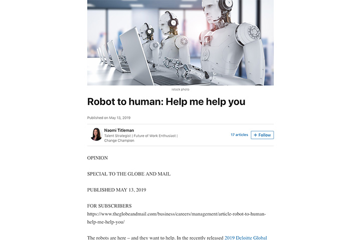 Robot to human: Help me help you